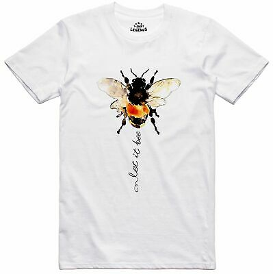 Nature T Shirt Let It Bee Arty Design Regular Fit Pre Shrunk Cotton Top • 9.99£