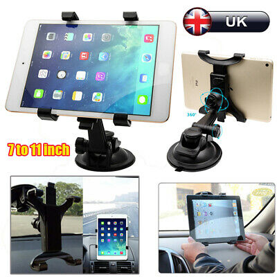 In Car Suction Phone Holder Dashboard Windscreen Universal Mount Tablet 7 To 11  • 6.59£