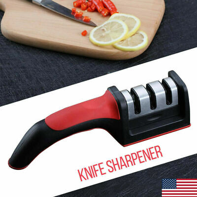 $6.99 • Buy New Easy 3-Stage Professional Chef's Kitchen Knife Sharpener Diamond Hone Man