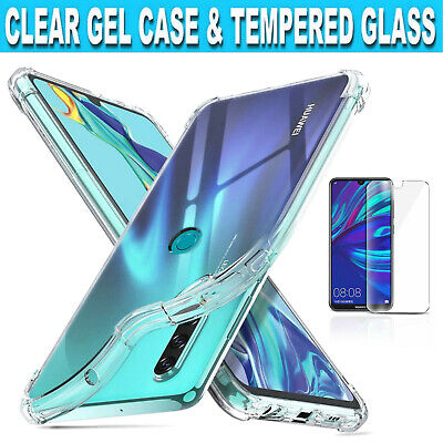 For Huawei Y5 Y6 Y7 Y9 Prime 2019 Clear Gel Case/Tempered Glass Screen Protector • 2.99£