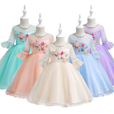 £16.25 • Buy Girls Dresses Party Bridesmaid Wedding Pageant Prom Communion Formal Ball Gowns