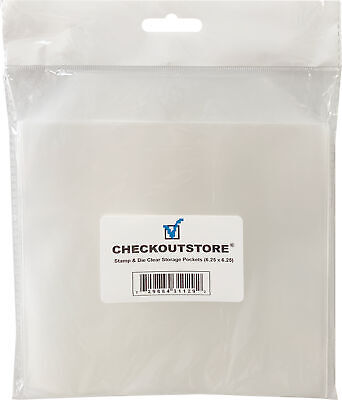 CheckOutStore Stamp & Die & Stencil Clear Storage Pockets (6 1/4 X 6 1/4) • 13£
