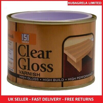 CLEAR GLOSS VARNISH - 180ml Wood Indoor Outdoor Paint Finish Interior Exterior • 6.45£
