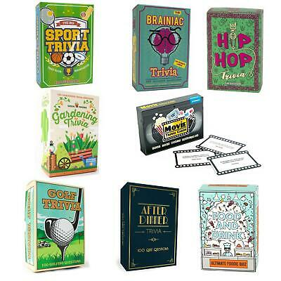 Gift Republic Trivia Quiz Cards Games Family Dinner Party Movie After Dinner • 4.99£