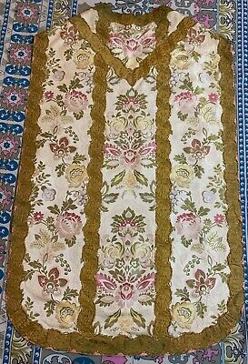 £550 • Buy Antique French Church Vestment Chasuble Priest Brocades Fine Condition