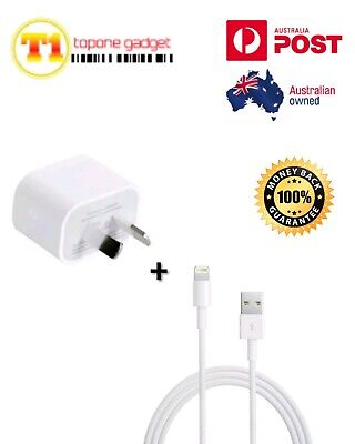 AU12.99 • Buy GENUINE Apple Wall Charger & Lightning Cable 1m/2m For IPhone 7 8 X XR XS 11Pro