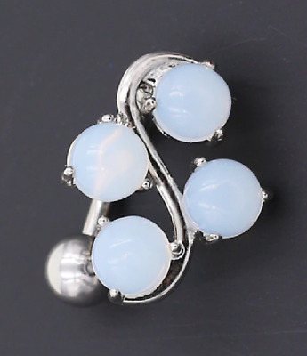Belly Bars Delicate Opaque Top Drop Reverse S Shape Belly Bar Navel Bars Rings • 4.25£