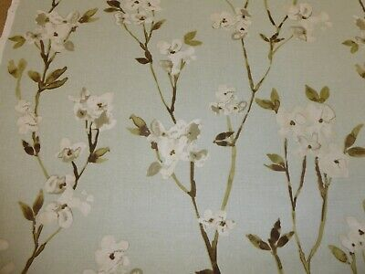 ALICIA MINERAL ( Duck Egg ) By FRYETTS - Cotton Fabric (Floral Design) • 6£