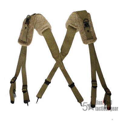 $25.97 • Buy Military Wwii Us Army M1936 X Suspenders With Felt Shoulder Pad