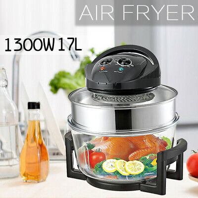 View Details 1300W 17L Large Oil Free Low Fat Air Fryer Healthy Frying Oven Halogen Cooker • 32.99£