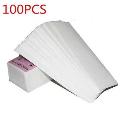 $3.99 • Buy 100pcs Hair Removal Wax Strips For Face Body Professional Wax Nonwoven Paper
