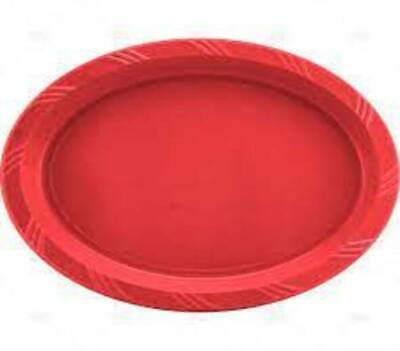 18 X Black Oval Plastic Party Plates Buffet Platters  - 23cm X 30cm - Halloween • 7.49£