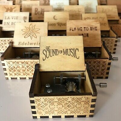 $ CDN22.37 • Buy Wooden Hand-cranked Music Box, Over 30 Pop-jazz Classics Tunes Of Your Choice!
