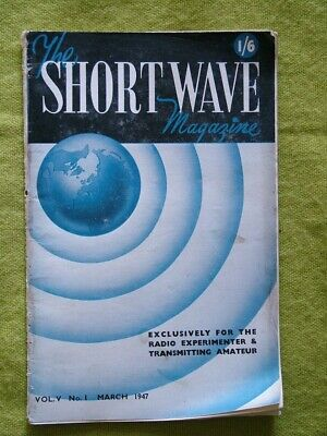 £7.49 • Buy The Short Wave Magazine / March 1947 / Five-meter Contest Analysis Tables