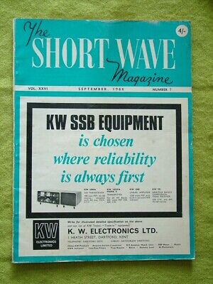 £7.49 • Buy The Short Wave Magazine / Sept 1968 / Fred Goes Mobile