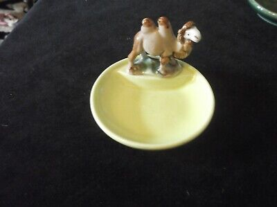 Collectable Wade Yellow Porcelain Whimtrays Pin Tray & Camel Whimsy • 12.50£