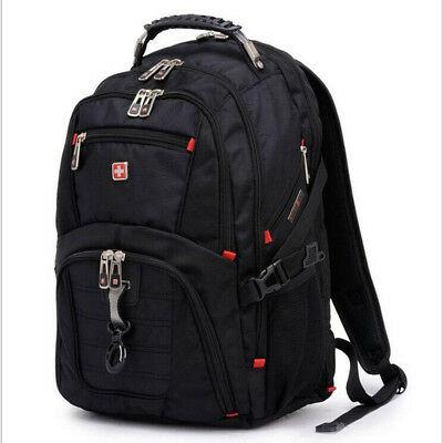 Waterproof Travel Bag Laptop Backpack Swiss Gear Computer Notebook School Bag • 30£