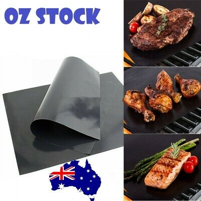 AU11.49 • Buy Reusable Cooking Baking Mats BBQ Grill Mat Sheet Non Stick Oven Liner Fast Deliv