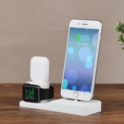 AU18.95 • Buy 3 In 1 Silicone Stand Charging Dock Charger For AirPods & Apple Watch & IPhone
