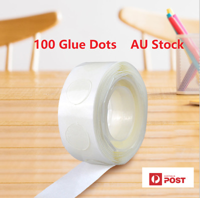 AU4.19 • Buy 100 Pcs Point Dots Balloon Glue Adhesive Point Tape Birthday Party Weddings
