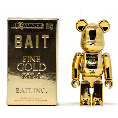 $219.99 • Buy BAIT Gold Bar 999.99 Be@rbrick Medicom 100% Bearbrick