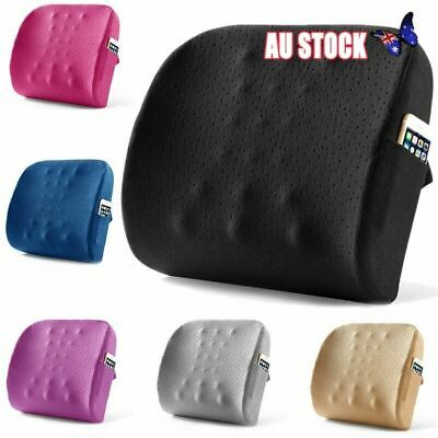 AU33.52 • Buy Memory Foam Lumbar Back Support Cushion Waist Pillow For Chair Office Home Car