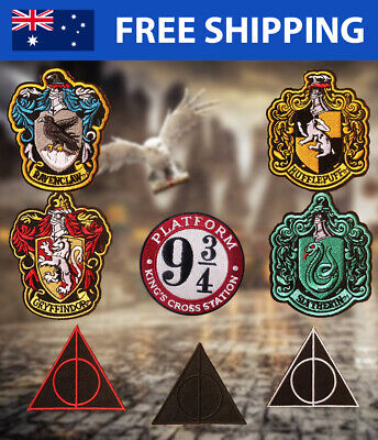 AU4.99 • Buy Harry Potter Embroidered Patch Embroidery Patches Slytherin Ravenclaw Gryffindor