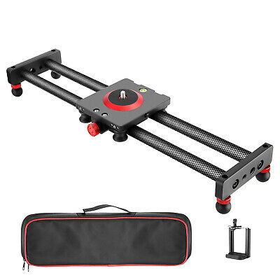 $73.99 • Buy Neewer Camera Slider Carbon Fiber Dolly Rail, 19.7 Inches With 4 Bearings 12lbs