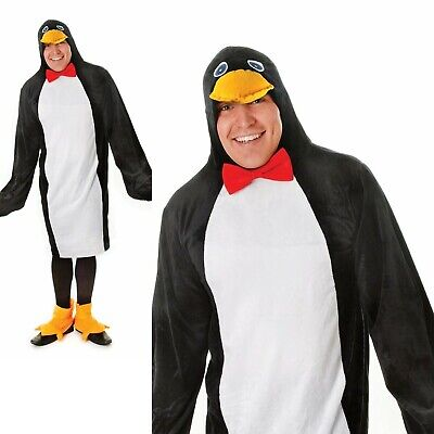 Penguin Adult Costume Artic Pole Animal Sea Bird Fancy Dress Outfit Adults • 25.99£