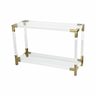 $1279.80 • Buy Dimond Home Steel Console Table In Clear Acrylic And Gold Finish 1114-306