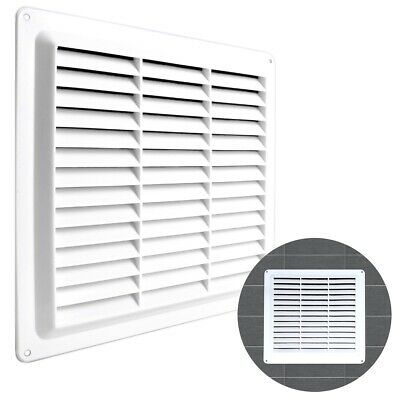 £4.33 • Buy WHITE LOUVRE VENT COVER 9  X 9  Square Air Brick Grille Duct Ventilation Wall UK