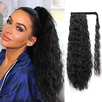 100% NEW Wave Clips In Ponytail As Human Hair Extensions Long Ponytail Hair NJZ2 • 6.51£