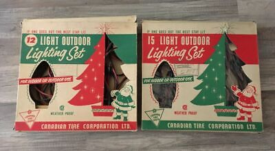 $ CDN24.99 • Buy Canadian Tire Vintage Christmas Indoor Outdoor Light 12 Bulb Strand 2 Boxes