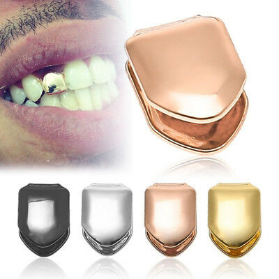 Single Grill Tooth Clip Plated Mouth Teeth Cap Grills Bling  C • 2.13£