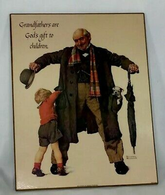 """$ CDN14.47 • Buy Vintage Art Norman Rockwell Lithograph On Canvas  The Big Moment  11""""x 14"""""""