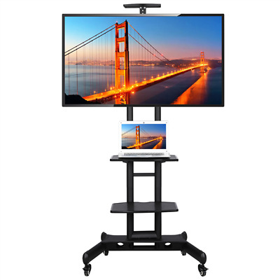 """£75.99 • Buy Mobile TV Stand For 32""""-65"""" LCD/LED Flat Screen With Wheels & 3-tier Shelves"""