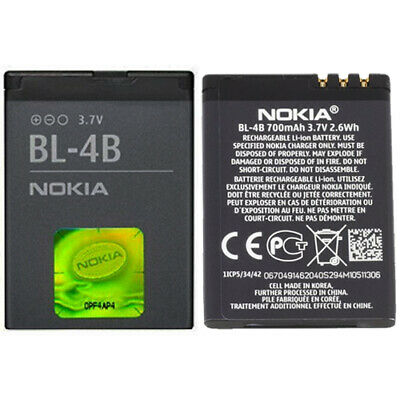 New Nokia BL-4B Battery For Nokia 2630 2660 2760 5000 6111 6101 6131 7370 N76 • 4.90£
