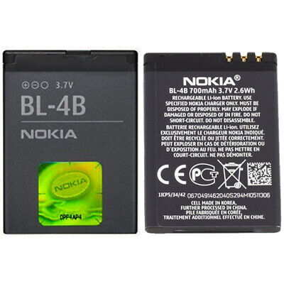 New Nokia BL-4B Battery For Nokia 2630 2660 2760 5000 6111 6101 6131 7370 N76 • 3.90£