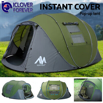 AU189.99 • Buy 4-6 Person Instant Pop Up Tent Family Waterproof Backpacking Hiking Camping Tent