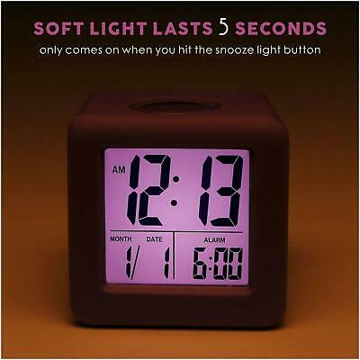 AU37.52 • Buy Digital Travel Alarm Clock With Snooze,Soft Nightlight,Large Display Kids GIFTS