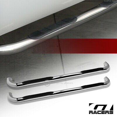 $173 • Buy For 2001-2003 Ford F150 Super Crew Cab 3  Side Step Nerf Bars Boards Hd Chrome