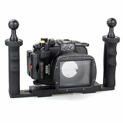 Meikon 40M Underwater Camera Housing Case For Sony HX90/ HX90V + Aluminium Tray • 179£