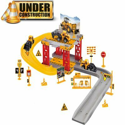 Car Park Garage Parking Construction Set +Vehicles Helicopter Model Xmas Toys • 12.99£