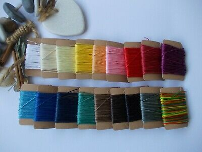 £2.99 • Buy Jewellery Cord 0.6mm Waxed Cotton, String Beads, Make Necklace, Bracelet,Craft
