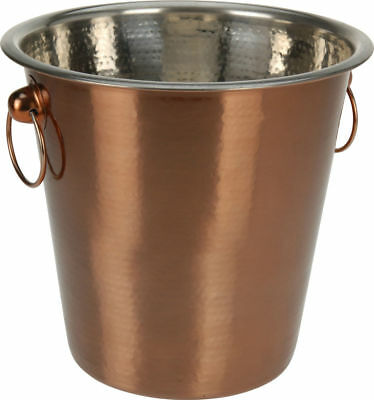 Vintage Copper Champagne Ice Bucket Stainless Steel Beer Wine Drink Cooler Party • 8.99£
