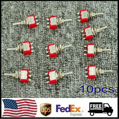 MTS-103 SPDT Momentary Toggle Switch 3Position AC 250V 2A 120V 5A On/Off/On 10PC • 7.45$