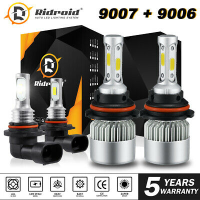 $18.44 • Buy Combo 9007+9006 LED Headlight Fog Bulbs For Dodge Ram 1500 2500 3500 2002-2005