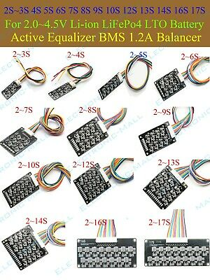 AU17.19 • Buy 3S 4S 6S 10S ~17S Li-ion Lifepo4 LFP Battery Active Equalizer BMS 1.2A Balancer