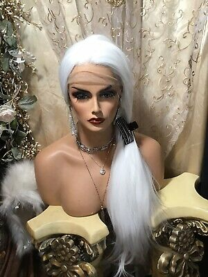 $129.99 • Buy My White Feather WIG! Soft Handmade Swiss Lace Cap With Multi Style Ability.