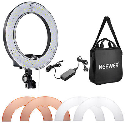 AU138.99 • Buy Neewer Camera Photo/Video 14  Outer 36W 180PCS LED SMD Dimmable Ring Video Light